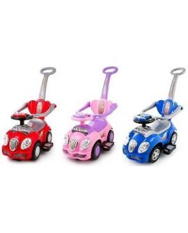 KP0558W Baby Walker Ride On Push Along CAR 3in1 Handle Interactive Steer Wheel