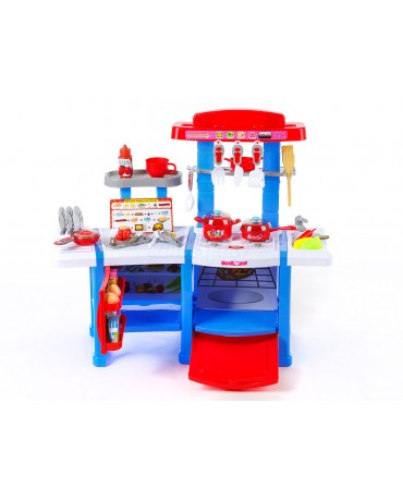 KP3470blu BLUE Toy Kitchen Children Cooking Set OVEN SINK FRIDGE
