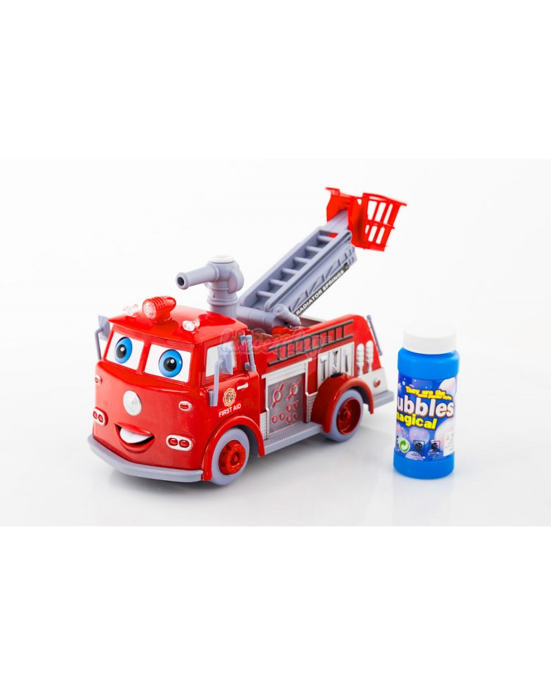 KP1565 Fire Engine Brigade Truck Soap Bubbles Light Music Sound