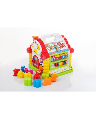 KP7766 Interactive Shape Sorting Cube Abacus Funny Cottage Educational Toy