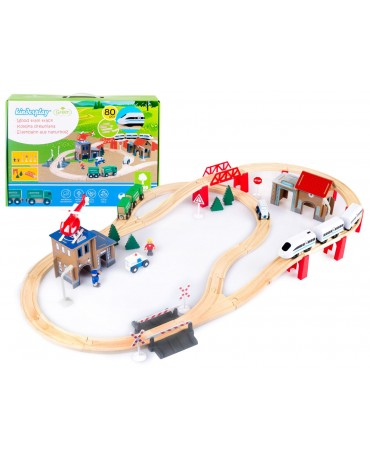 Wooden Train Track Railway Battery Police Station GS0010