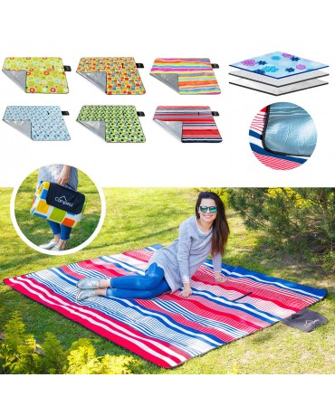 EXTRA LARGE 210x180 WATERPROOF PICNIC BLANKET RUG TRAVEL PET CAR DOG CAT BAG