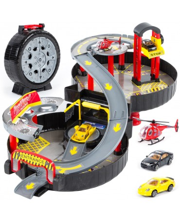 Car Park Auto Parking Garage Cars 2 Storey Portable City Truck Play Set Toy