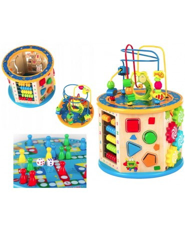 Baby Wooden Activity Cube Toys Children Education Learning Puzzle KINDERPLAY