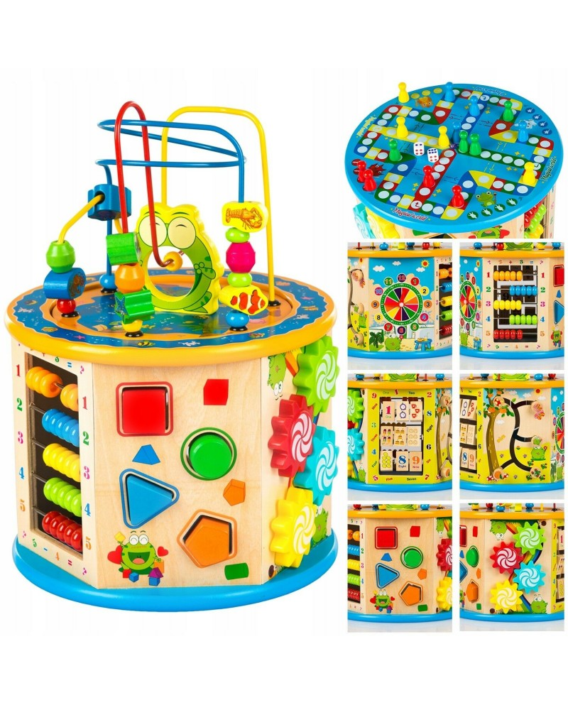 Baby Wooden Activity Cube Toys Children Education Learning Puzzle