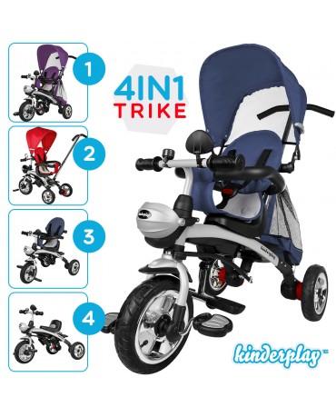 KIDS 4 IN 1 RIDE 3 WHEEL BABY TRICYCLE STROLLER BUGGY PUSH BIKE KINDERPLAY 0566