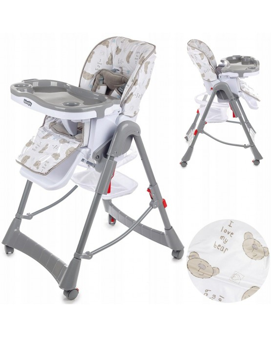 Highchair Feeding Recliner Seat Foldable Baby Toddler Infant KINDERSAFETY KP0014
