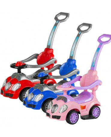Walker Ride On Push Along DELUXE MEGA CAR 3in1 Parent Handle KP0916