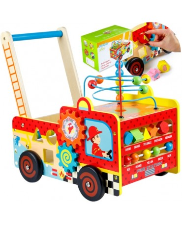 KINDERPLAY WOODEN SORTER BABY WALKER FIRE BRIGADE GS0006