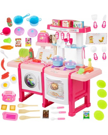 Kinderplay Toy Kitchen Role Play Pretend Cooking Girl LARGE Children Kids Toaste