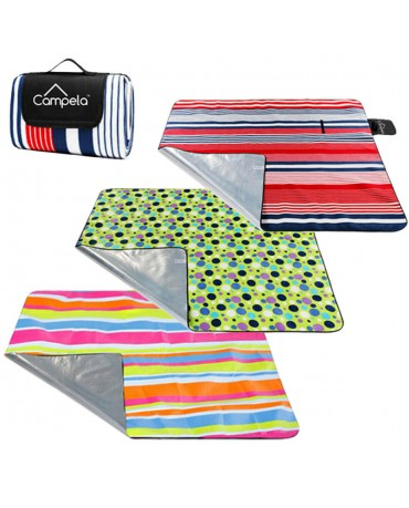 CAMPELA EXTRA LARGE PICNIC BLANKET BEACH FOLDING MAT OUTDOOR 210x180 cm