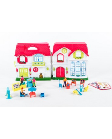 KP4781 Doll's house Door Bell Family Dolls Light Sound Accessories