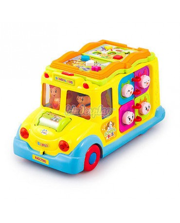 KP0505 INTERACTIVE SCHOOL BUS MUSIC LEARNING BABY TOY
