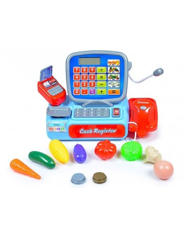 KP3268 Electronic Till Cash Register Toy Shop Role Supermarket Children Toy