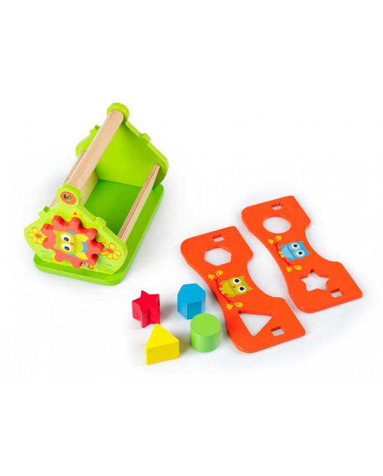 Wooden Sorting Cube Educational Cottage Sorter Sow Toy GS0004