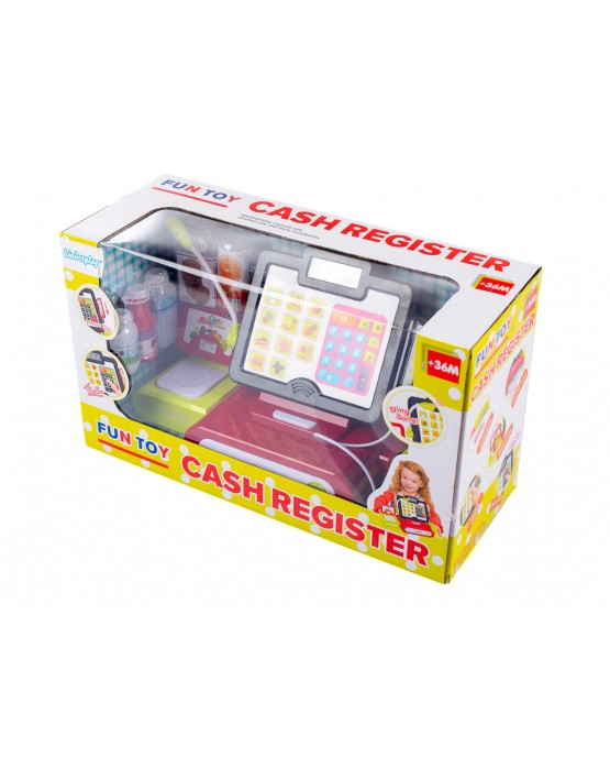 Electronic Cash Register Toy with Barcode Scanner Calculator Accessories KP4944