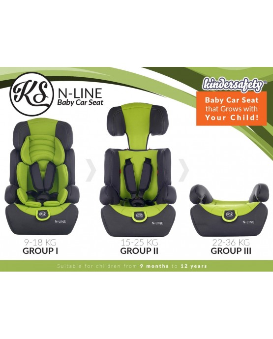 3 in 1 Child Baby Car Seat Safety Booster For Group 1/2/3 9-36kg ECE R44/04