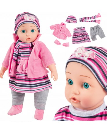 Soft Baby Doll Girls Toy With Sounds Clothes Kinderplay KP4840 / KP4839