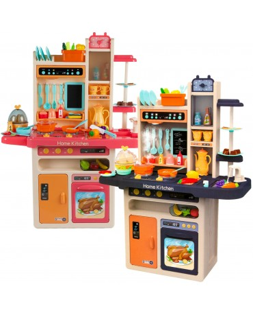 KINDERPLAY large kitchen kids + vapor + sound cooking pretend cooker accessories
