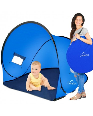 BEACH TENT FOR CHILDREN BABY GIRL BOY POP-UP SELF-FOLDING BLUE WINDOW