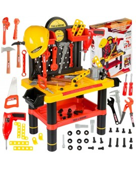 Workbench Table DIY WorkShop Tools Bench Kids Children Helmet Kinderplay
