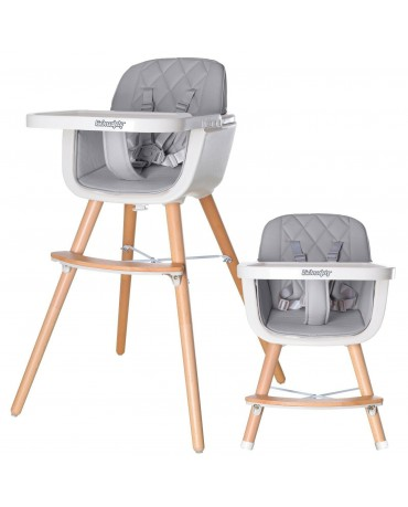 KINDERSAFETY FEEDING CHAIR FOR BABIES WOOD TODDLER FEEDING SEAT