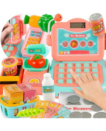 KINDERPLAY CASH REGISTER TOY KIDS BOY GIRL ELECTRONIC CASH CREDIT CARD