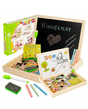 KINDERPLAY CREACTIVE MAGNETIC BOARD CHALK PUZZLE